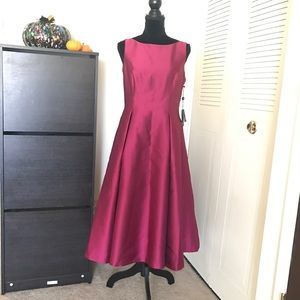 New Adrianna Papell Puffy Ball Tea Length Dress